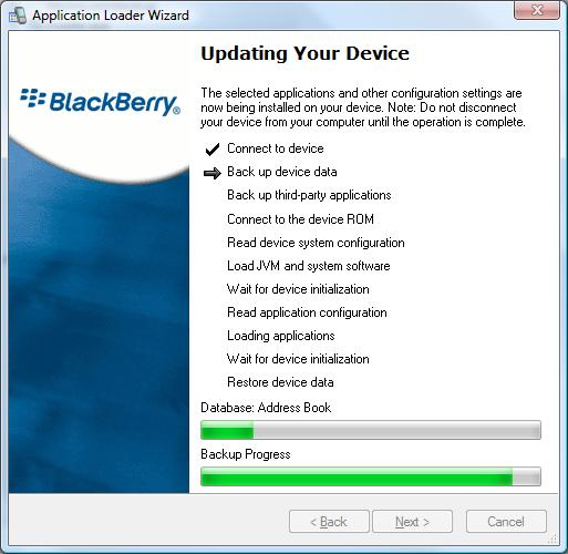 updating firmware on bb device